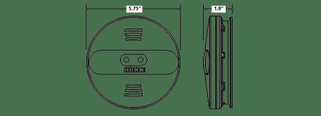Kidde PI2010 Dual Sensor AC Hardwired Interconnect Smoke Alarm