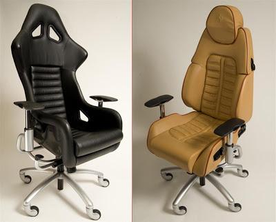 ferrari office chair high straps sportscar chairs made from lamborghini porsche and corvette seats