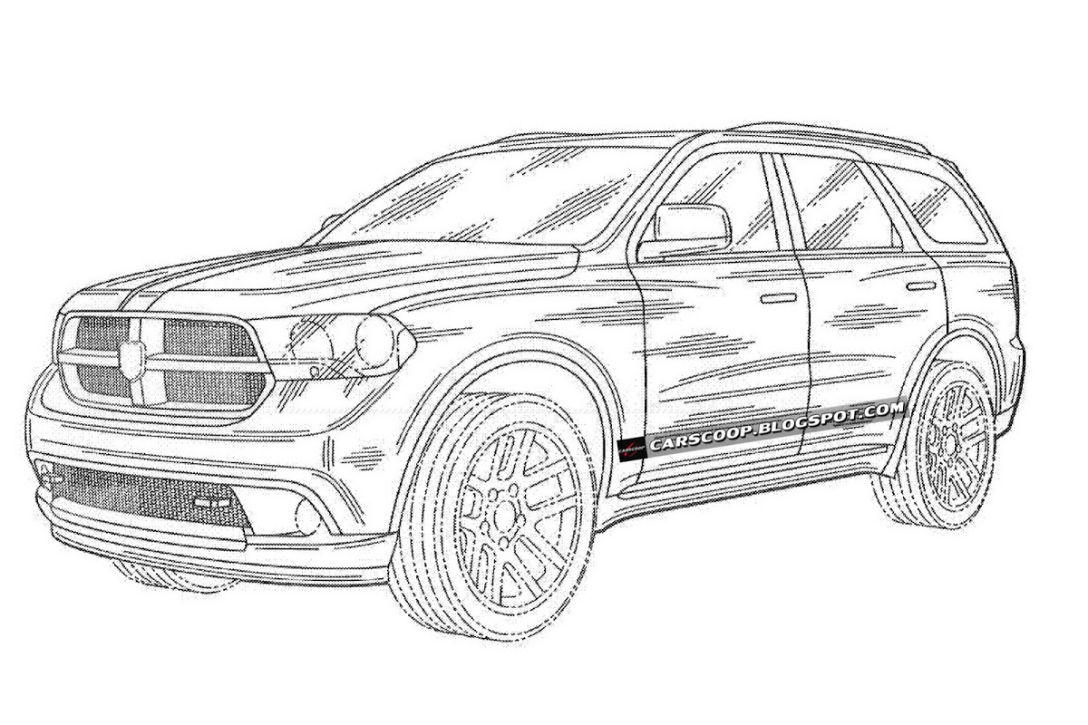 2012 Dodge Durango SUV Pictured in U.S. Patent Drawings