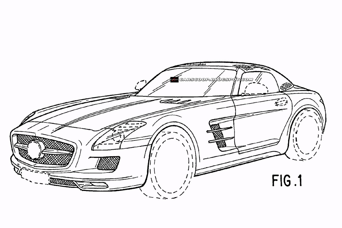 2012 Mercedes-Benz SLS AMG Roadster Revealed in Patent