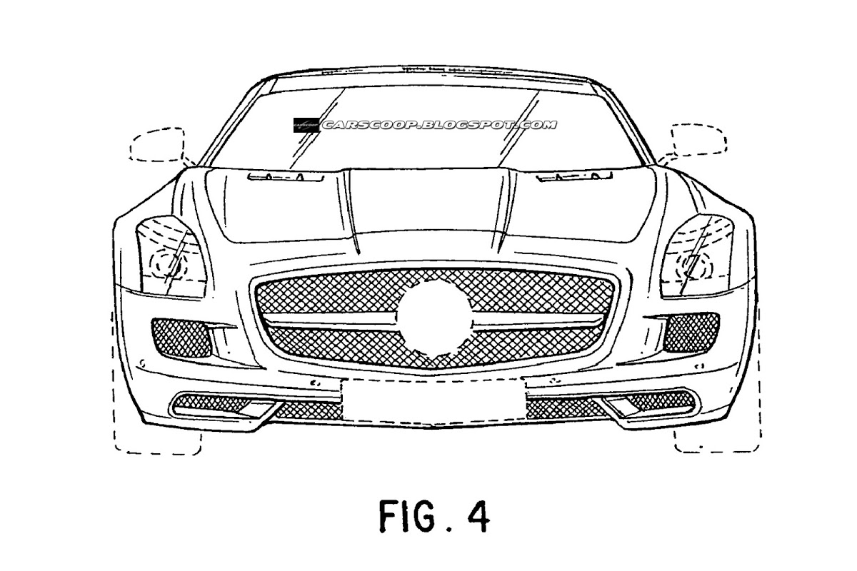 Mercedes Benz Sls Amg Roadster Revealed In Patent