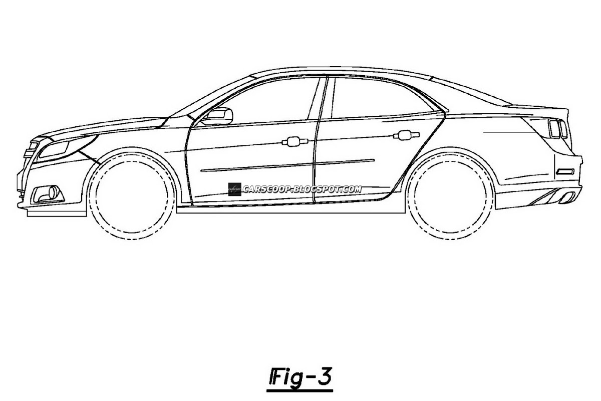 Patent Designs Of Chevrolet Sedan With Camaro Esque Read