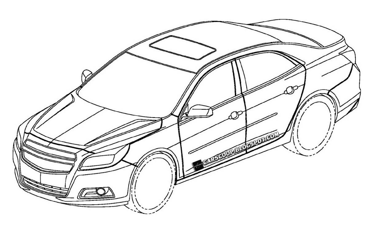 Patent Designs Of Chevrolet Sedan With Camaro Esque Read