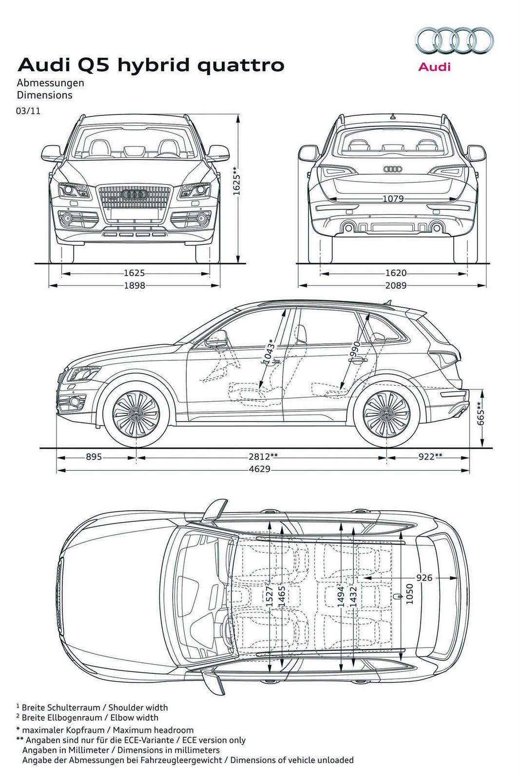 Audi Q3 Drawing