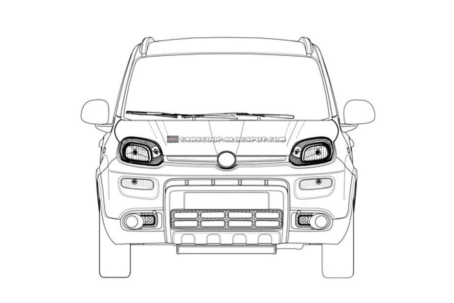 New 2013 Fiat Panda 4x4 Soft Crossover Revealed in Patent