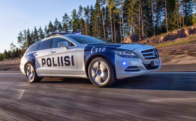 A Mercedes Benz Cls Shooting Brake Made For Finnish Cops