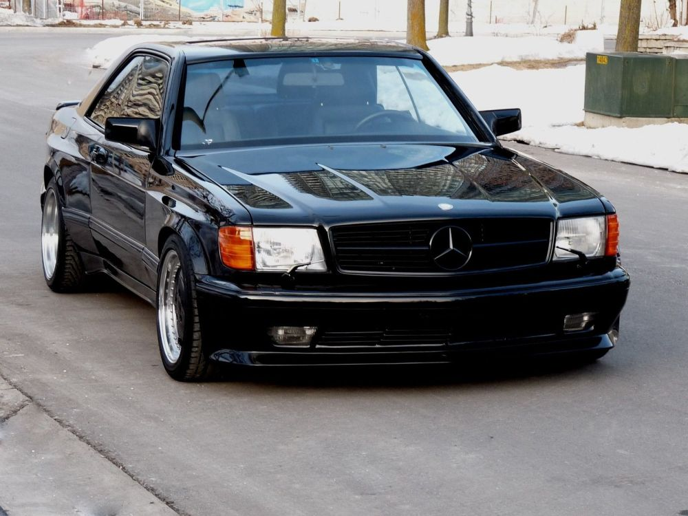 medium resolution of 1990 mercedes benz 560sec amg 6 0 widebody is badass but is it 100k badass carscoops
