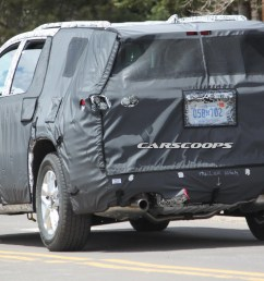 u spy 2018 chevrolet traverse suv the gmc acadia s roomier brother carscoops [ 1600 x 1067 Pixel ]