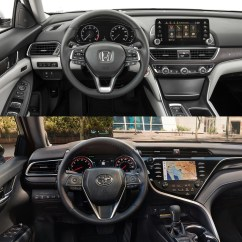 All New Camry Vs Accord Toyota Indonesia 2018 Honda Let The Battle Begin Carscoops Since It S Not Fair To Compare A Rental Fleet Se Luxurious Touring We Ll Skip Over Tech Features And Confirm Both Models Have