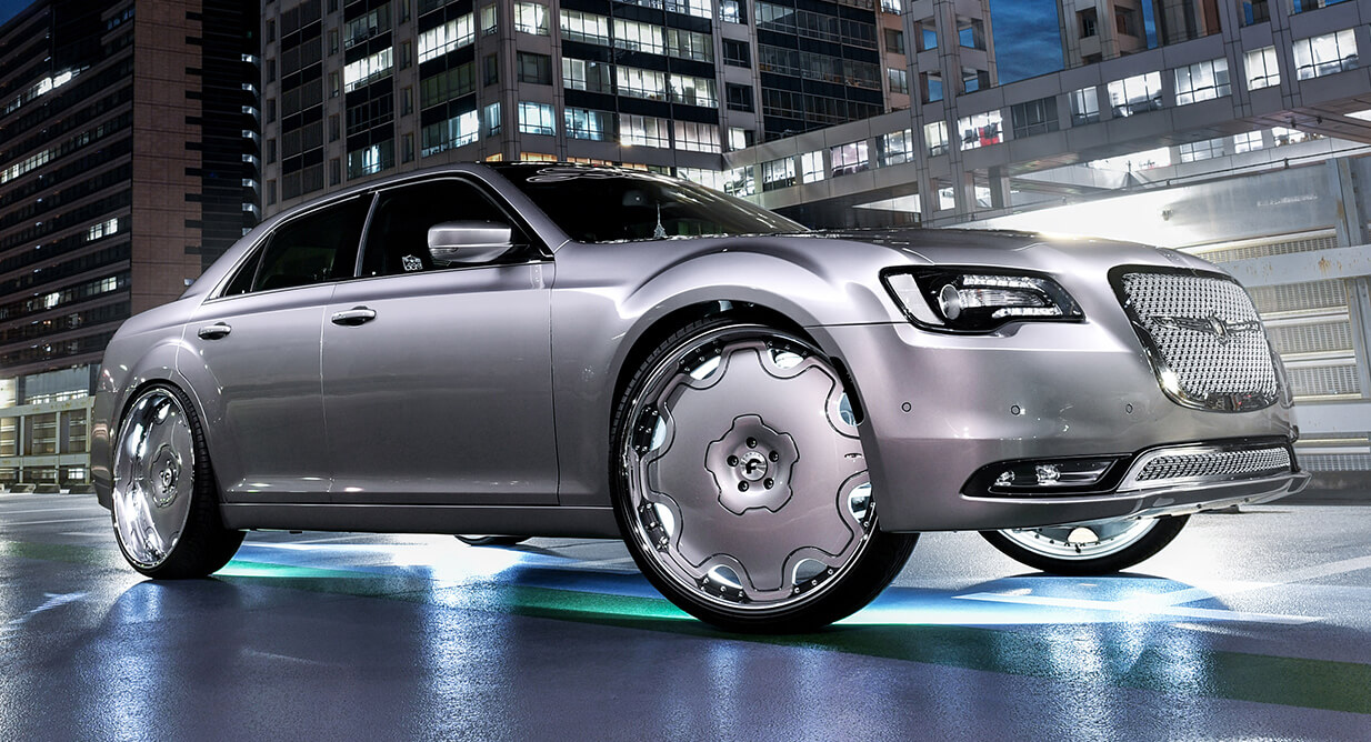 Big In Japan Chrysler 300 Wears 26inch Wheels With