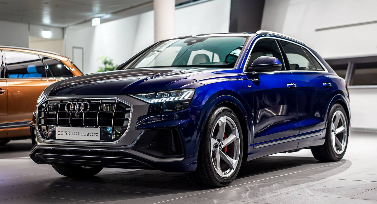 Navarra Blue Audi Q8 Spotted In Showroom With Bespoke