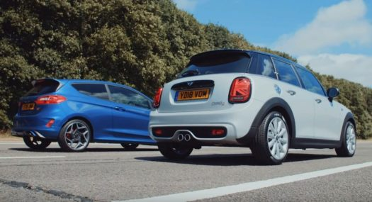 Ford Fiesta St Vs Mini Cooper S Drag Race There Can Be Only One