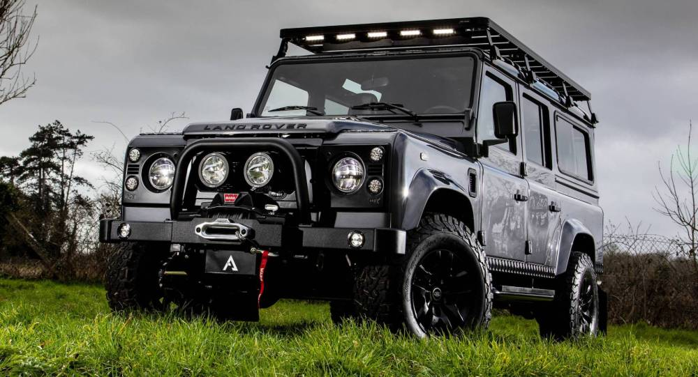medium resolution of 1992 land rover defender reinvents itself as 190k recon d110 carscoops