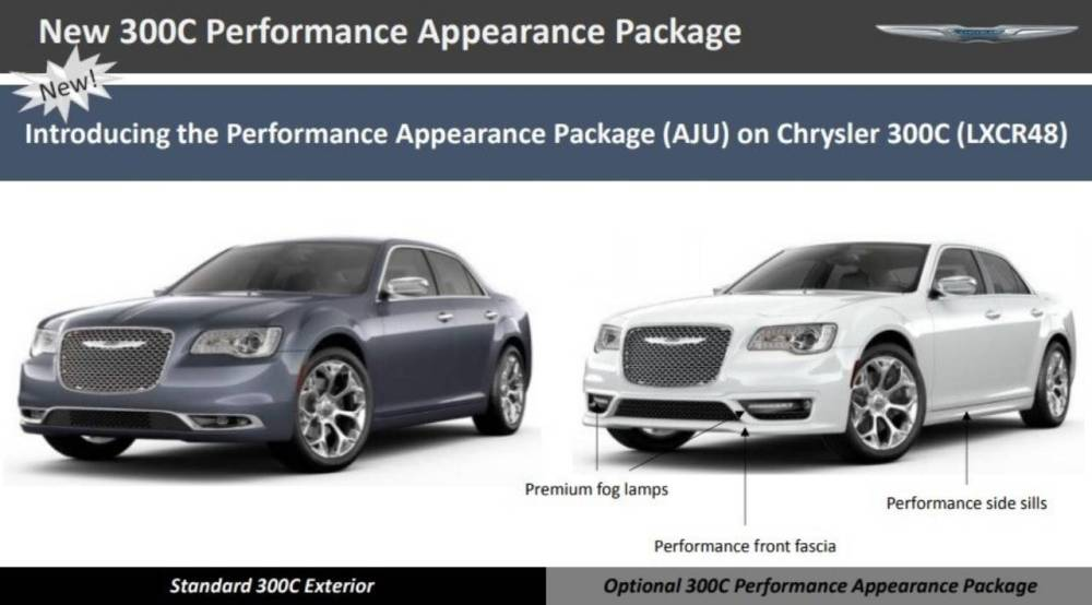 medium resolution of essentially what chrysler is doing is expanding the availability of the sport appearance package from the 300s to the 300c top of the line model