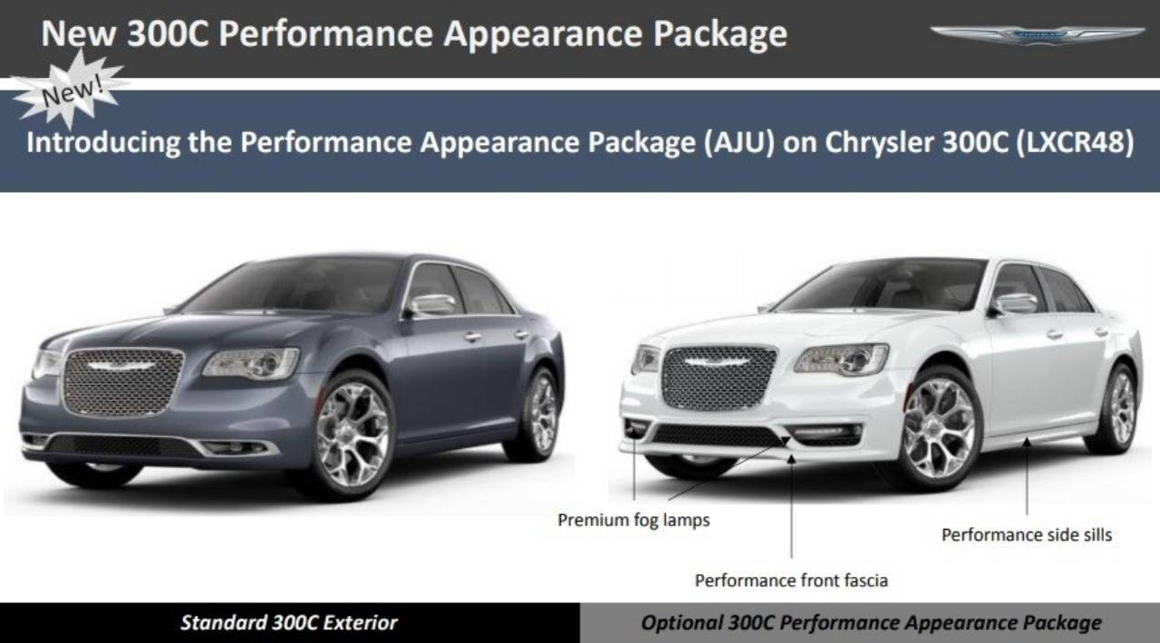 hight resolution of essentially what chrysler is doing is expanding the availability of the sport appearance package from the 300s to the 300c top of the line model