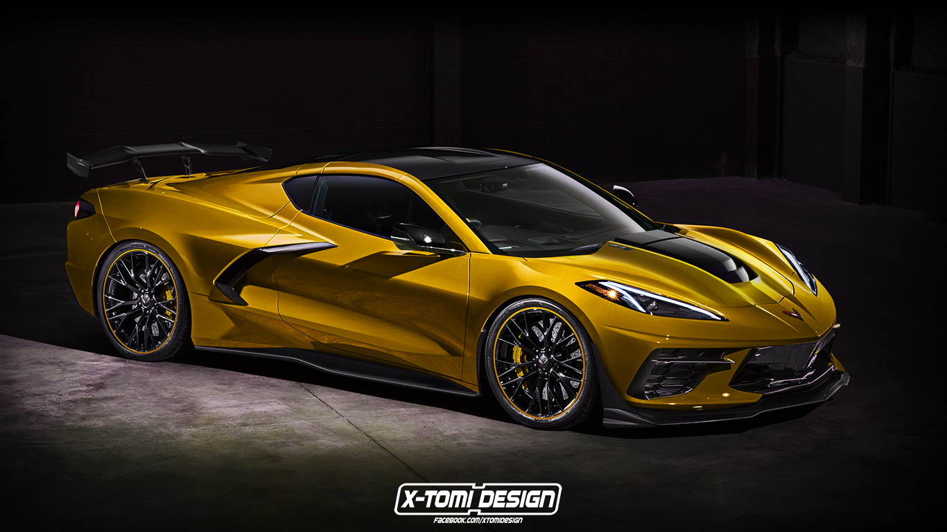 new corvette c8 zr1 with extra downforce mods could look something like this