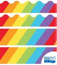 Big Rainbow Printable Border Set