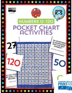 Celebrate learning numbers printable pocket chart activities product image also rh carsondellosa