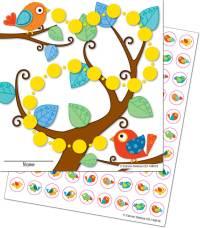 Boho Birds Mini Incentive Charts Grade PK