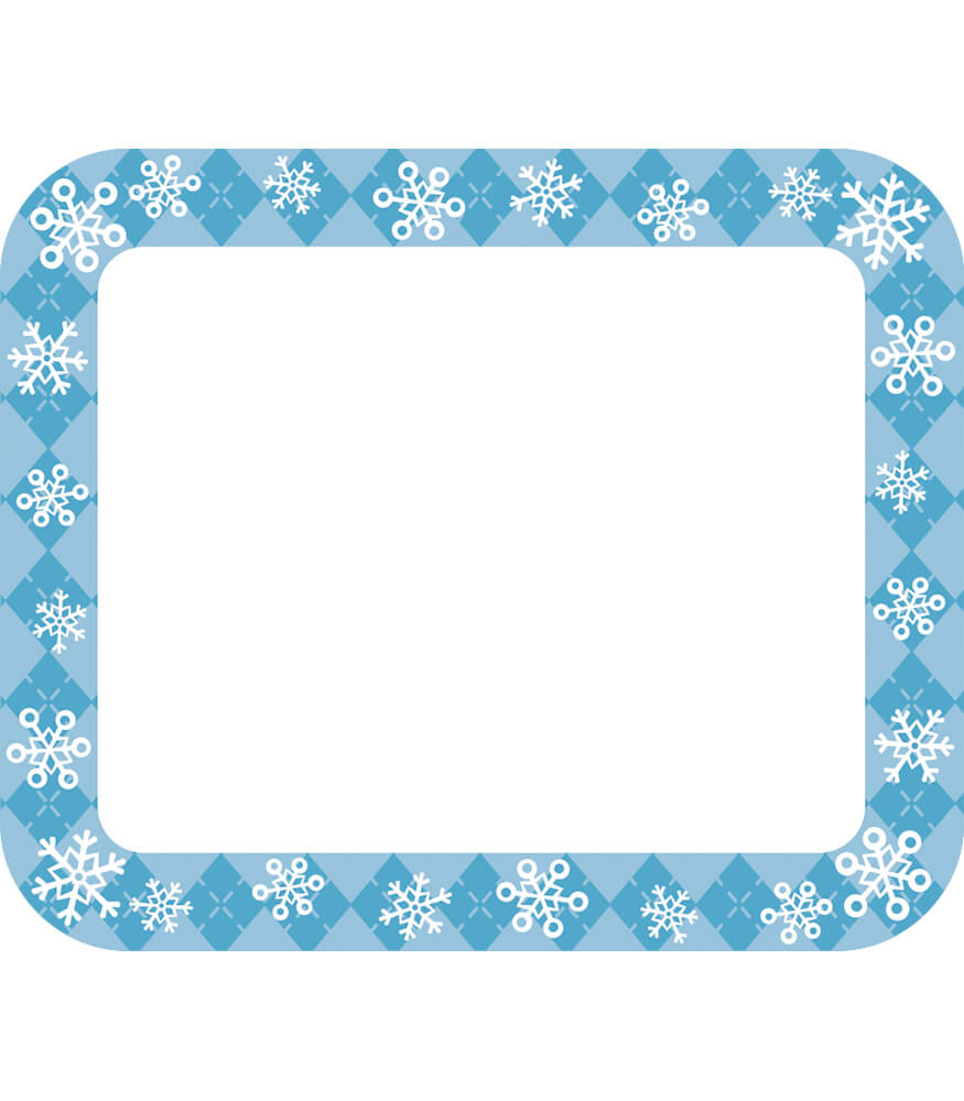 Snowflakes Name Tags Grade PK 5