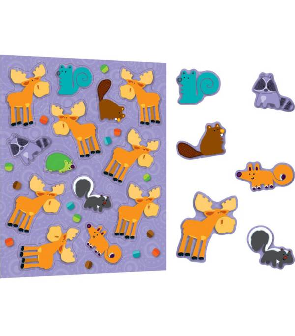 Moose & Friends Shape Stickers Grade Pk-5 Carson-dellosa