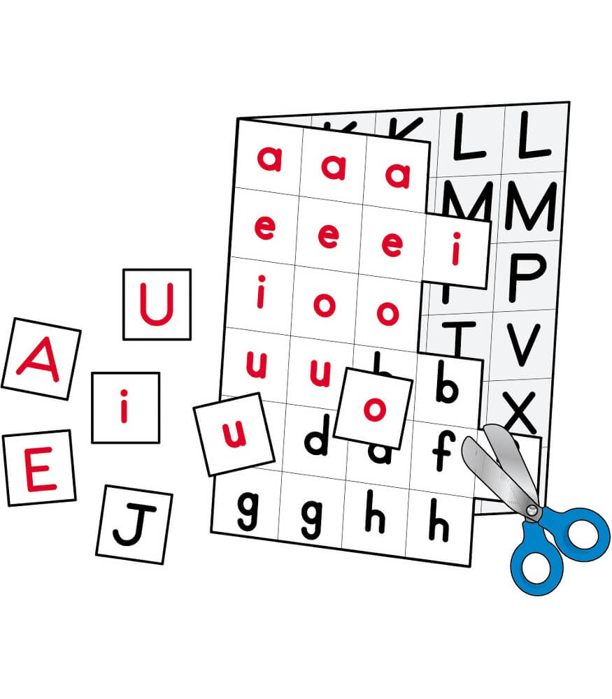 Individual Making Words Letters Manipulative Grade 1-3