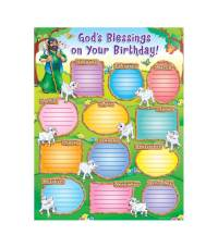Gods Blessings on Your Birthday! Chart Grade PK