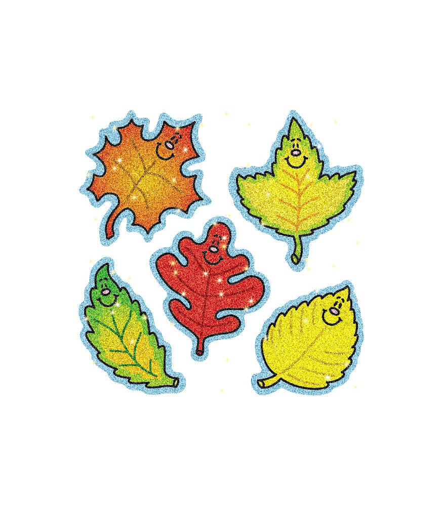 Fall Leaves Dazzle Stickers