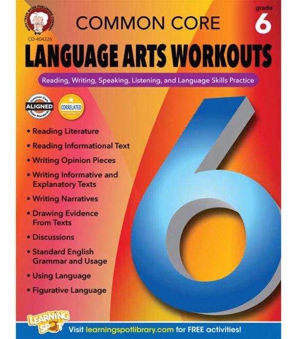 Common Core Language Arts Workouts Resource Book Grade 6