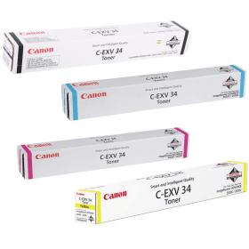 Canon C-EXV34 (BK/C/M/Y) Original Black & Colour Toner