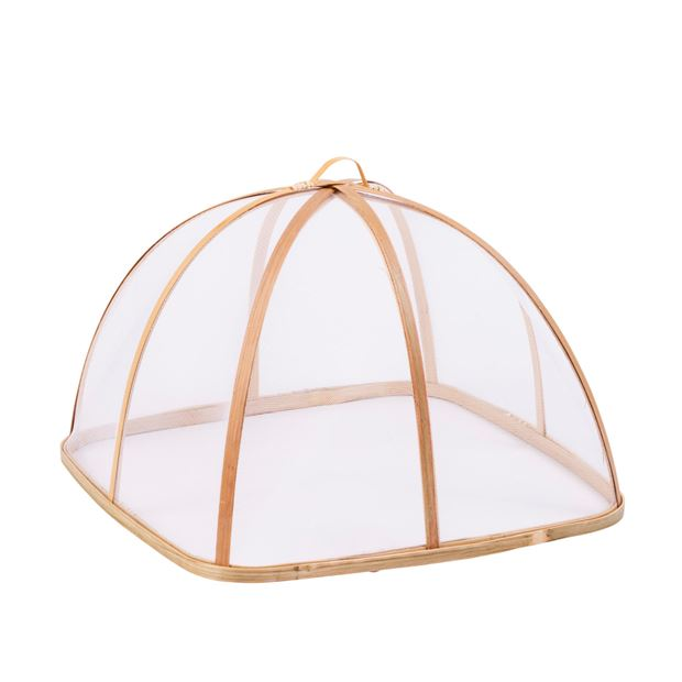 bamboo cloche a aliments naturel h 24 x larg 34 x p 34 cm