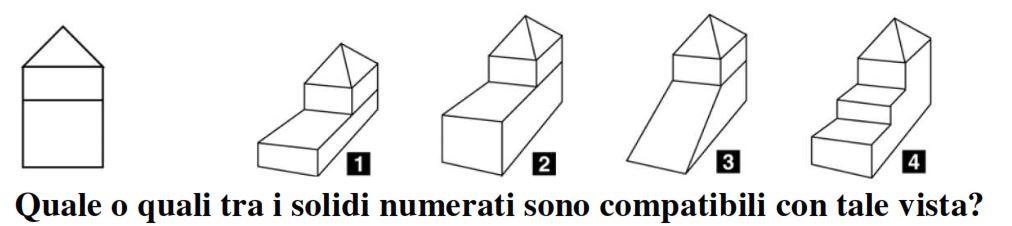 Il primo disegno in figura rappresenta la vista laterale di un solido.