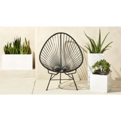 Acapulco Lounge Chair Beach Side Table Outdoor Black | Cb2