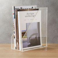 acrylic magazine holder + Reviews | CB2