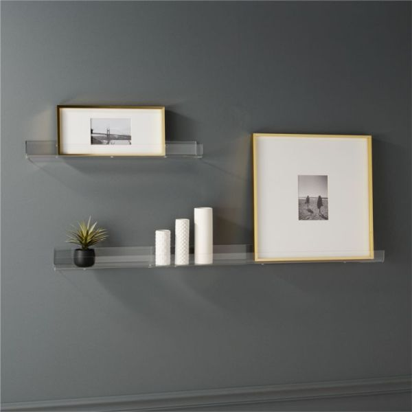 Acrylic Wall Shelves Cb2