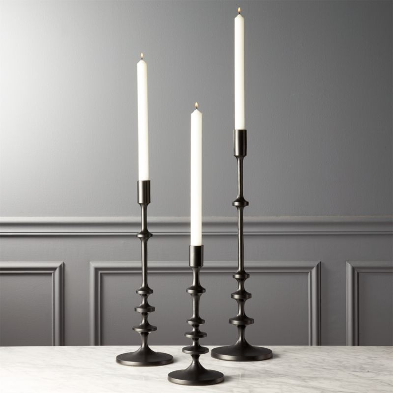 Allis Black Taper Candle Holders