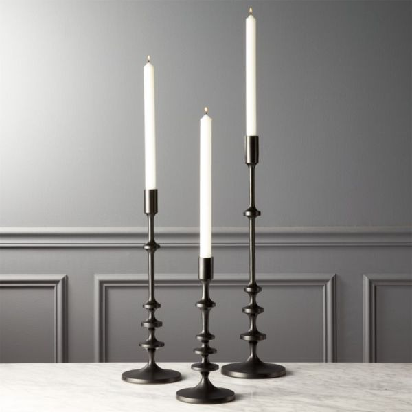 Black Taper Candle Holders