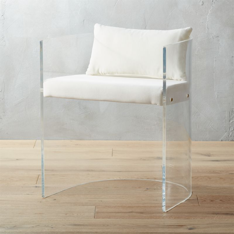 antonio acrylic chair with pillow + Reviews