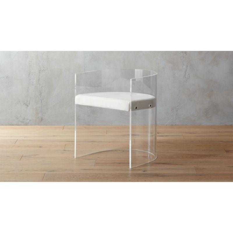land of nod high chair pilates exercises antonio acrylic round + reviews | cb2