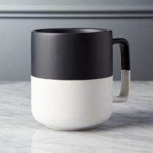 Black Dip Large Mug Cb2