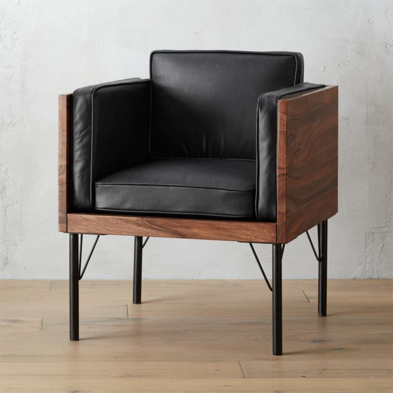 borough leather chair  CB2