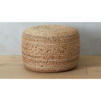 braided jute pouf | CB2