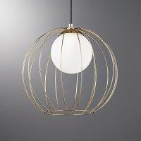 Cage Brass Globe Pendant Light | CB2