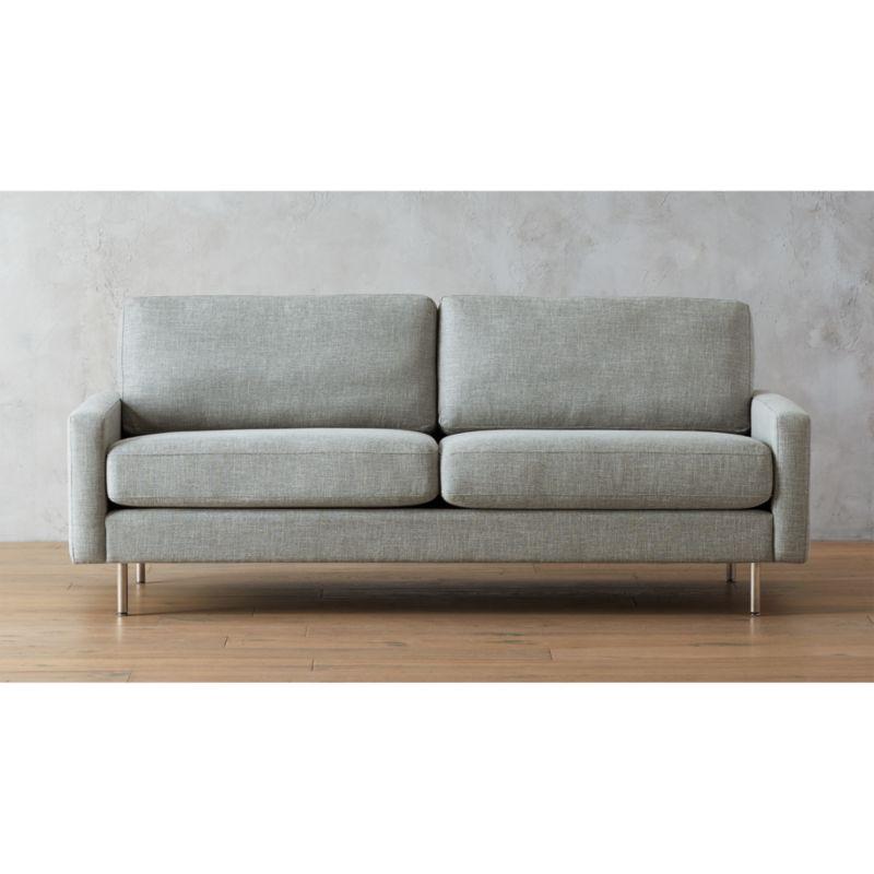 cb2 club leather sofa emma tufted forte channeled saddle - thesofa