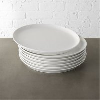 Contact White Dinner Plates Set of 8 | CB2