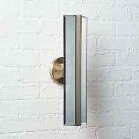 Crease Mirrored Metal and Glass Wall Sconce | CB2