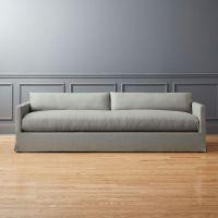 Delphine Linen Slipcover Sofa   CB2