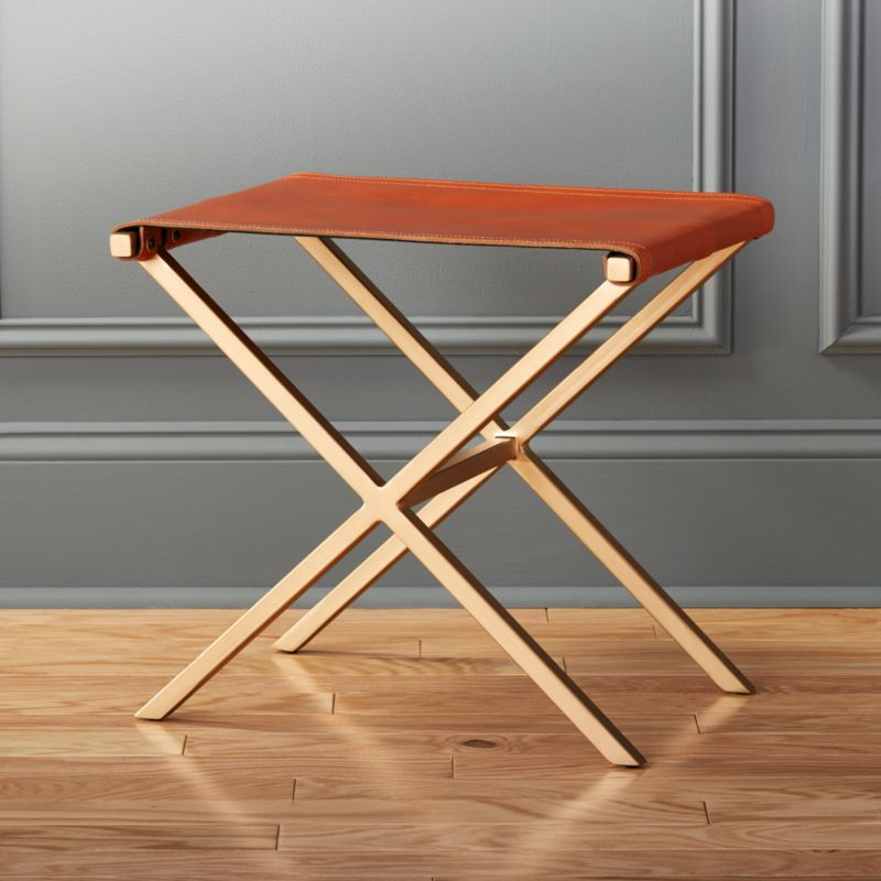 leather directors stool  Reviews  CB2