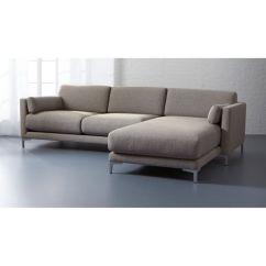 Left Arm Return Sofa Armrest Wrap Tray Table District 2-piece Sectional   Cb2