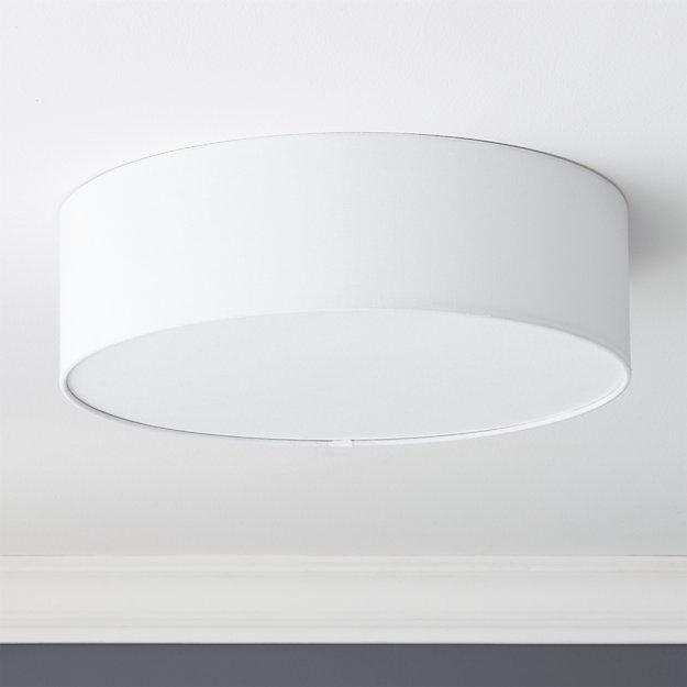 drum flush mount lamp